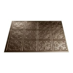 18 in. x 24 in. Traditional 10 Argent Bronze PVC Backsplash-B57-28 at The Home Depot