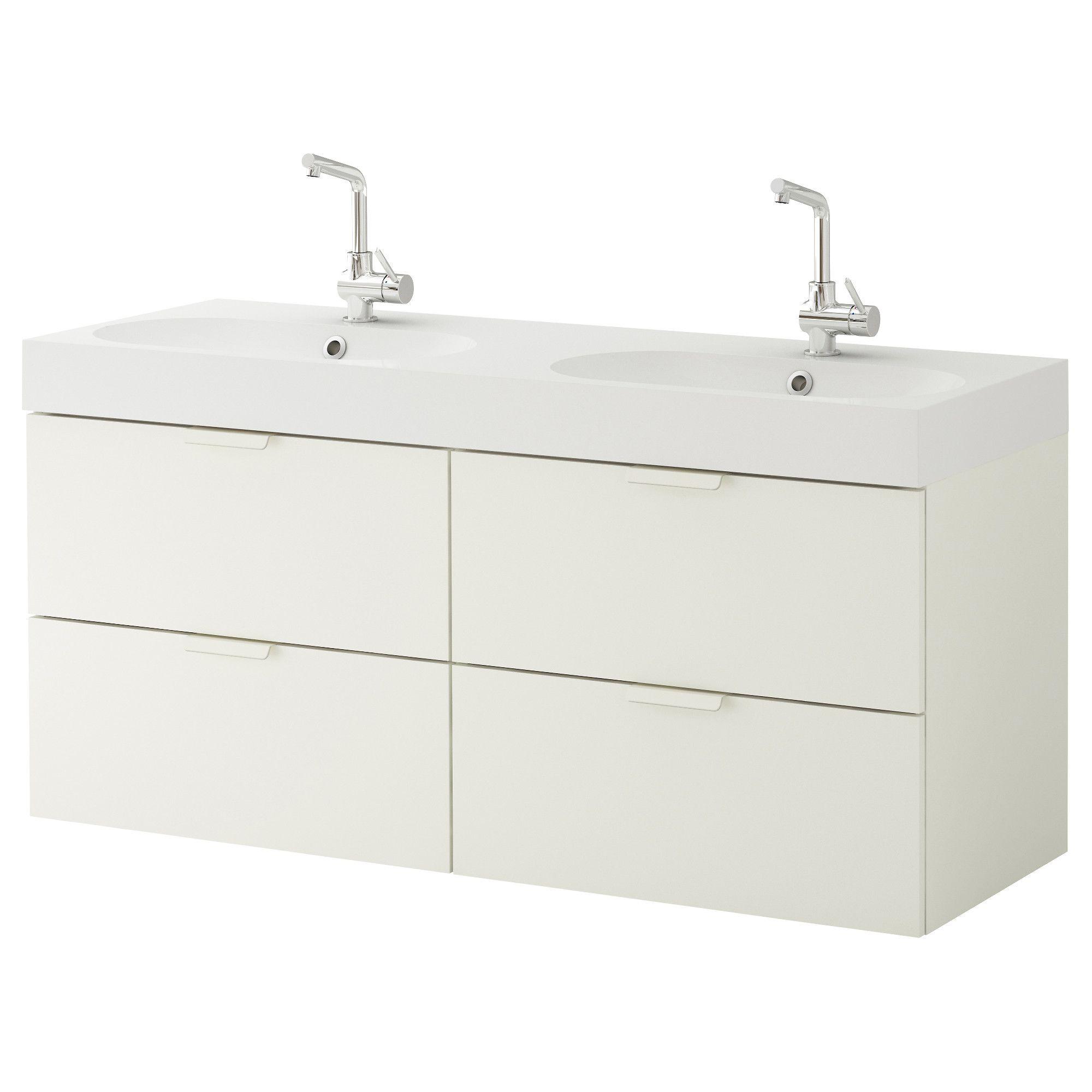GODMORGON / BRÅVIKEN Sink cabinet with 4 drawers - white - IKEA ...