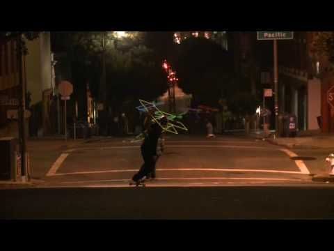 36 Skaters Make Downhill Neon