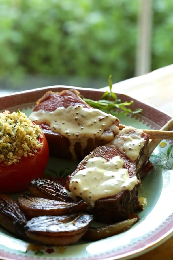 Photo of Slow Roasted Lamb Chops with Tarragon Mustard Sauce
