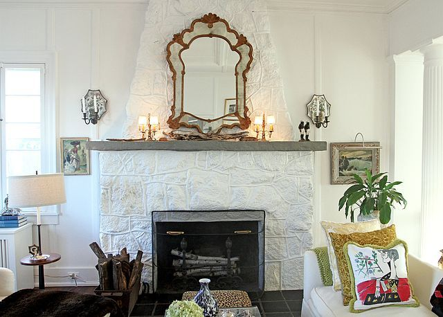 i need help for my ugly stone fireplace can i paint it laurel rh pinterest com