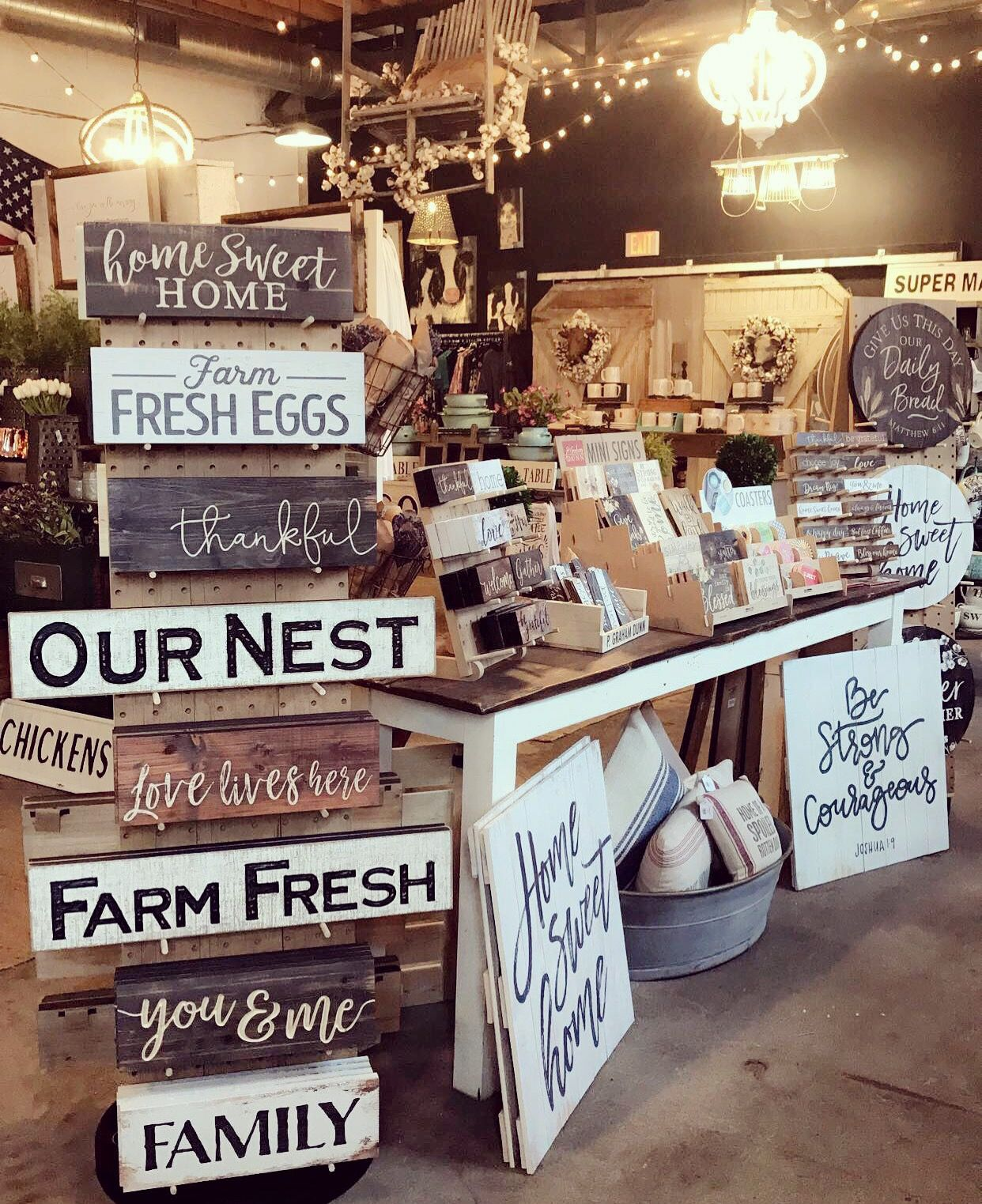 Pin by ashley hall on styling and display pinterest for How to display wood signs at craft show