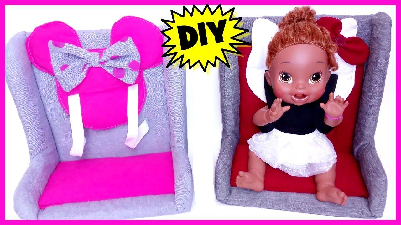 DIY doll carseat, no sew Diy baby stuff, Baby girl diy