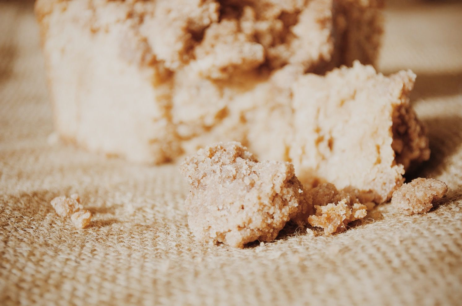 New York Style Crumb Cake that's all about the crumb.
