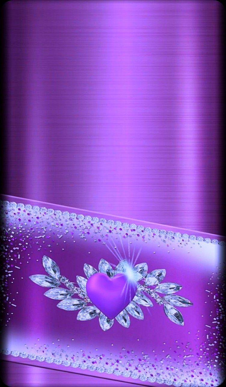 Images By Terri Smith On Purple   Bling Wallpaper, Glitch Wallpaper, Heart Wallpaper 5FD