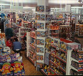 Toy Displays In A Large Modern Woolworths Store In The