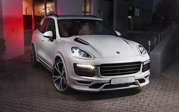Download wallpapers Porsche Cayenne, TechArt, SUV, tuning