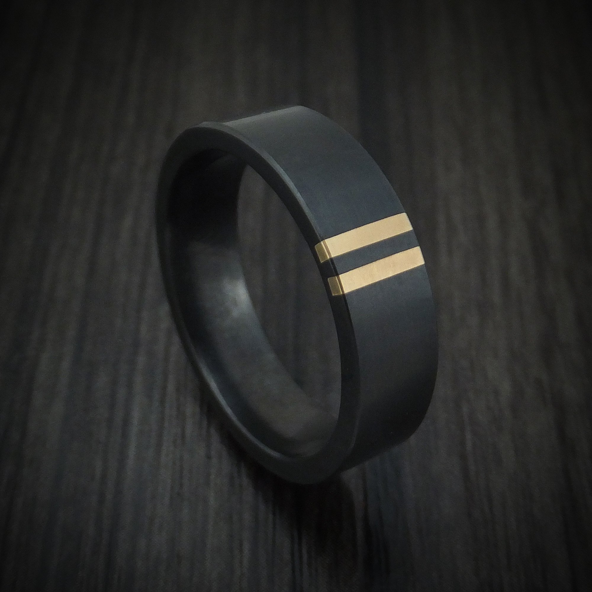 14K Gold Bezel Ring 2mm ~ Size LUS 6EU 53