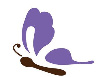 Butterfly Stencil for Painting Kids or Baby Room Mural  (SKU184-istencil)