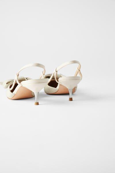 Striped Kitten Heel Shoes With Bow Kitten Heels Kitten Heel Shoes Heels