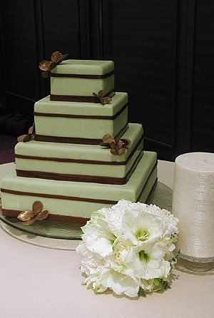 Simple cake. We could take off tiers if it will be too big for your wedding