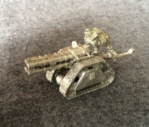 Warhammer 40k Imperial Guard Rapier W/ Gunner Rogue Trader Metal Oop Gw #GamesWorkshop