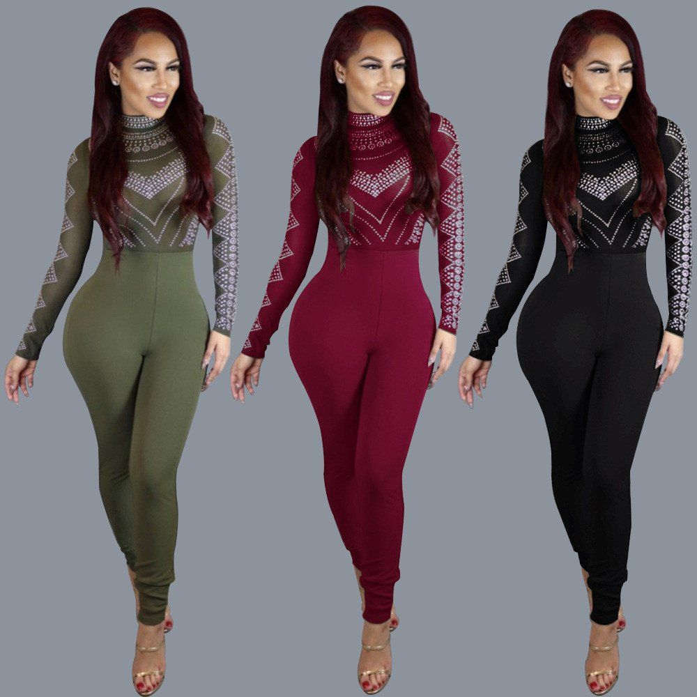 ab327b99424 Item Type  Jumpsuits   Rompers Gender  Women Style  Fashion Type  Jumpsuits  Fit Type  Skinny Fabric Type  Broadcloth Length  Full Length Decoration   None ...