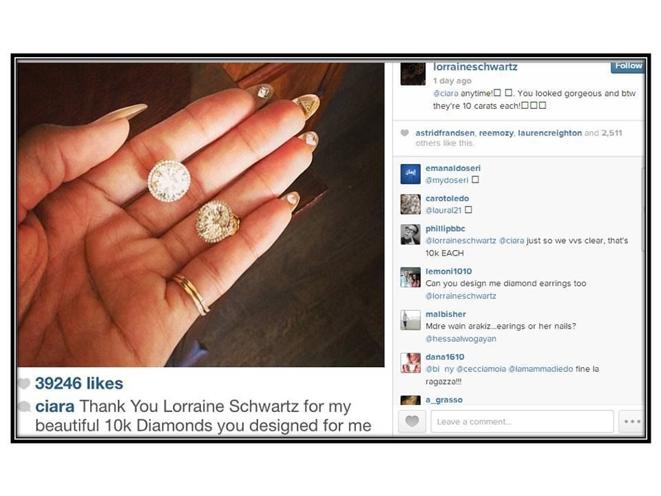 Ciara S Gorgeous Diamond Stud Earrings 10 Carats Each By Lorraine Schwartz Stunners