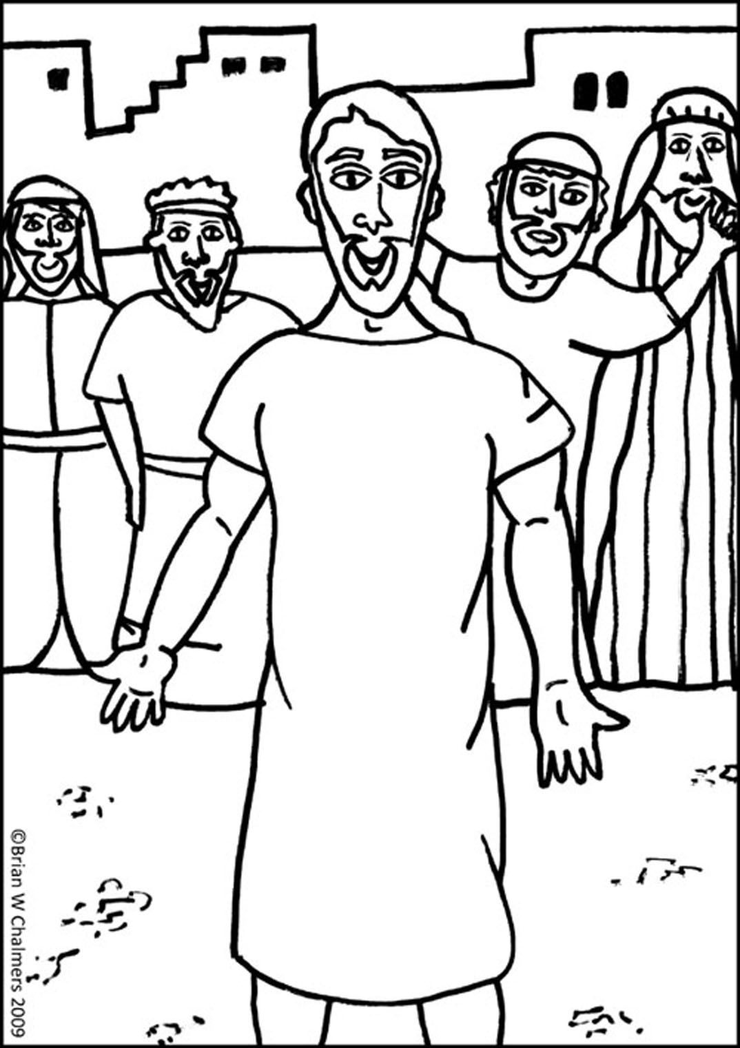 Jesus heals paralyzed man man crafts bible crafts school template vacation bible