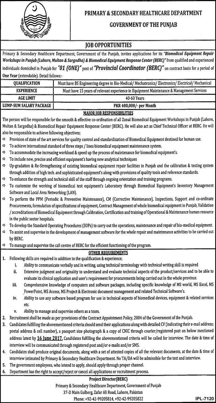 Dae Jobs In Hi Tech Bio Medical Equipment Quetta  Jobs In
