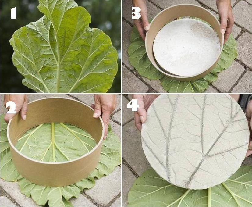pas japonais à faire soi meme - Moulage feuille de rhubarbe | Jardin ...