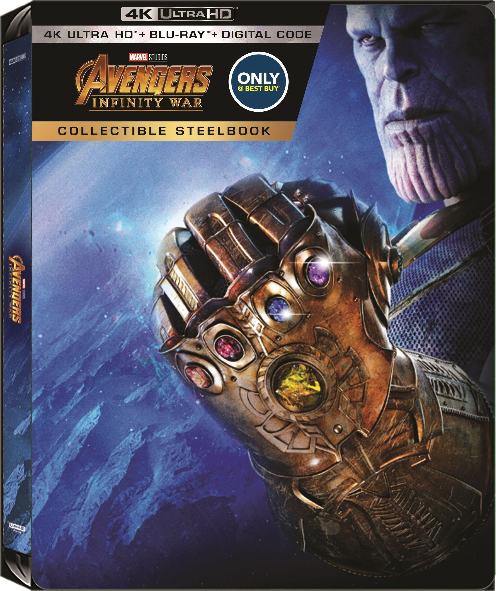 Avengers Infinity War 4k Blu Ray Best Buy Exclusive Steelbook Infinity War Avengers Infinity War Cool Things To Buy