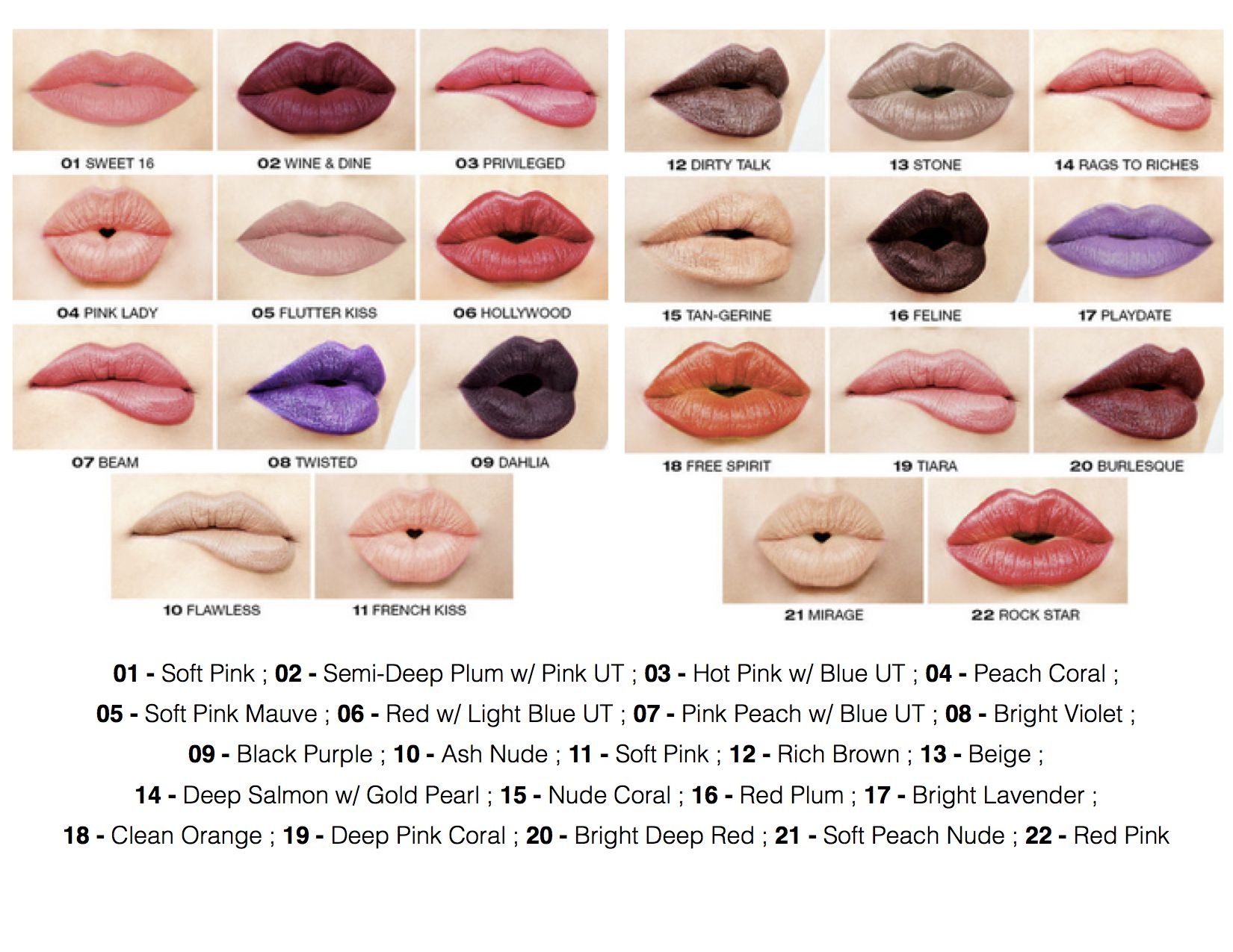 Nyx hight voltage lipstick swatches 6 each amp up your - Infudea alta gama ...