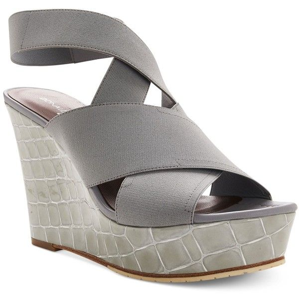 09954b37bdb Donald J Pliner Carlin Platform Wedge Sandals ( 248) ❤ liked on Polyvore  featuring shoes