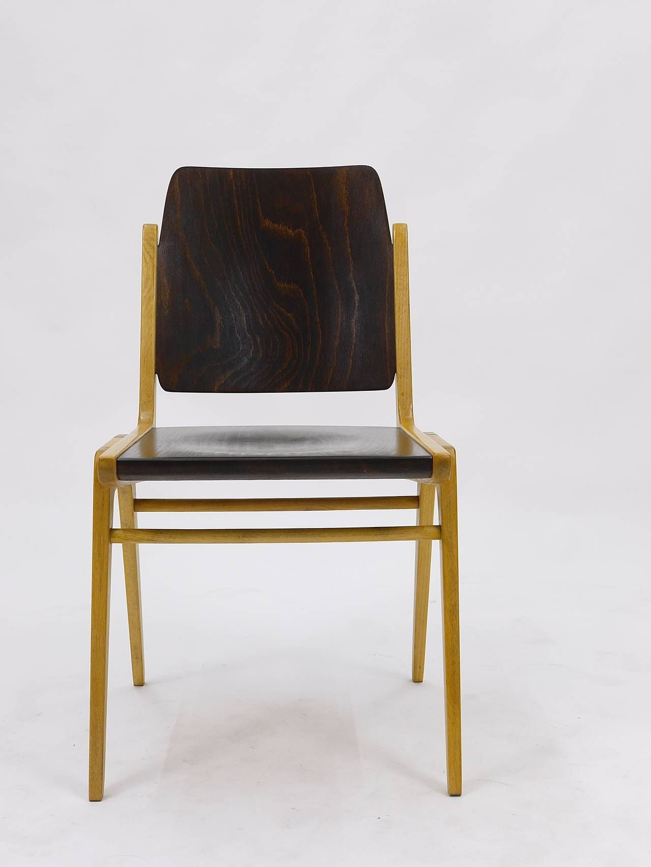 up to 12 austro chair stacking chairs by franz schuster, wiesner