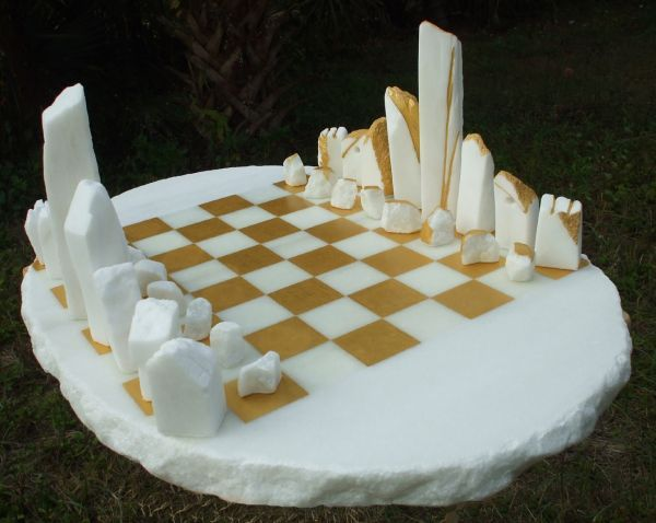 White Cararra Marble Sculpture By Sculptor Krystyna Sargent Titled Chess As Art Stone Henge Carved Marble Statue Kr Chess Marble Chess Set Chess Set
