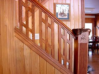 Wooden Stair Railing Home Improvement Inspiration In 2019 Stair