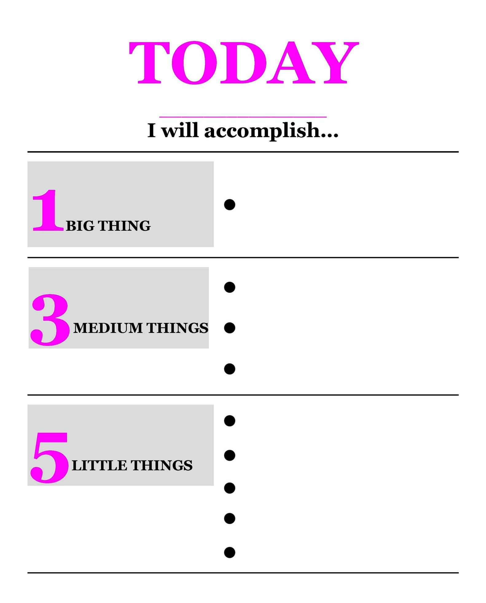To Do List That I Created To Prioritize Daily Goals Love
