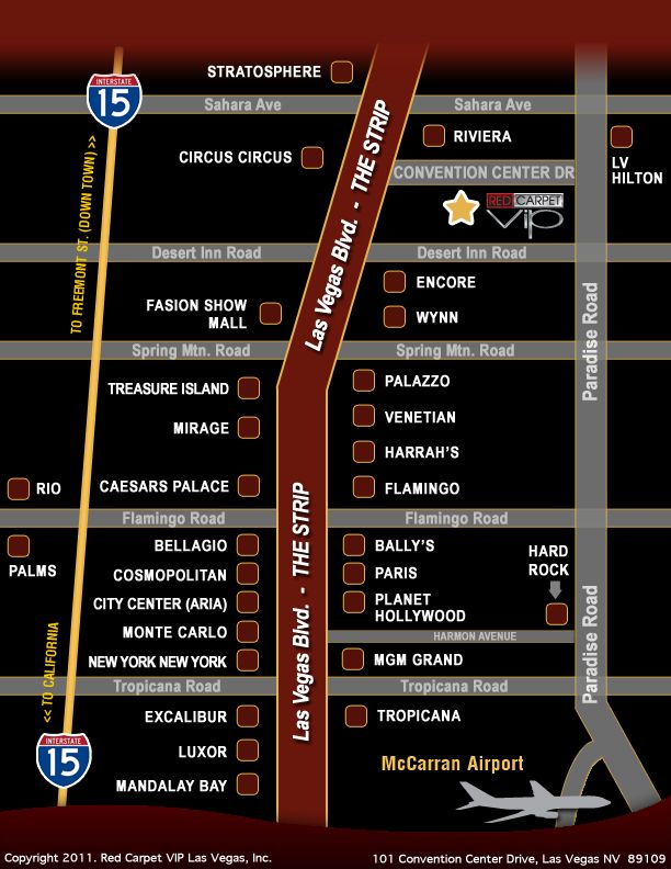 Las Vegas Maps Printable View Larger Pdf Version: Cosmopolitan Las Vegas Map At Slyspyder.com
