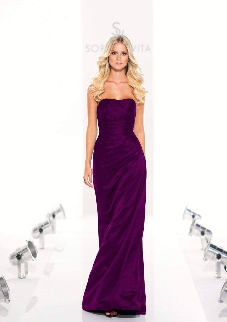 These are my brodesmaid dresses collection 8107 sorella vita style full length dark purple bridesmaid dresses feature strapless neckline with a line design exclusive designer dark purple bridesmaid dresses by ombrellifo Images