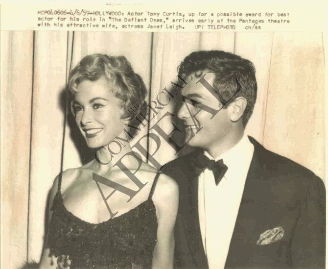Tony Curtis and Janet Leigh 1961
