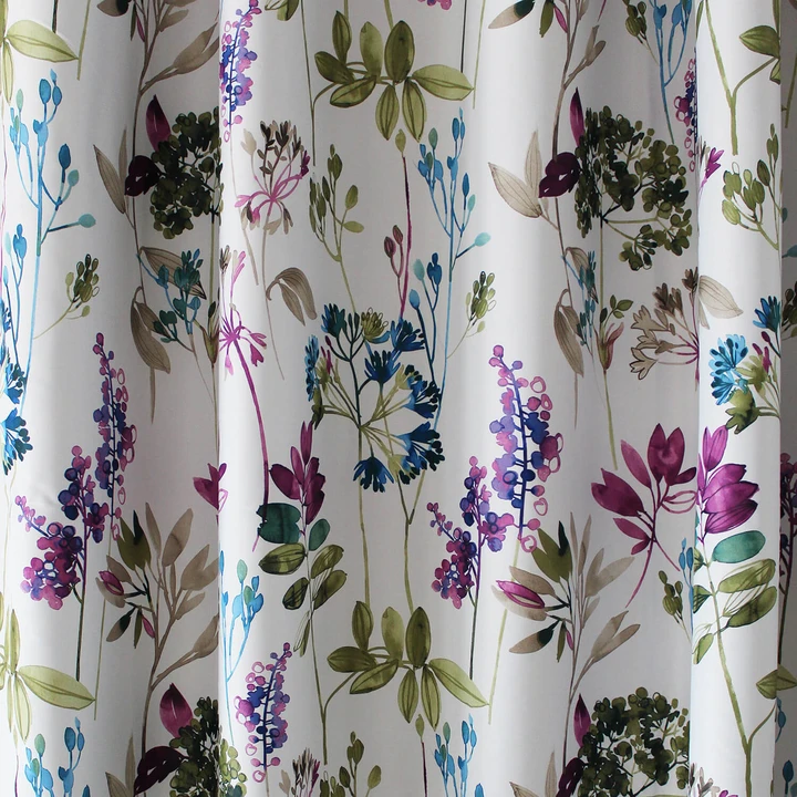 Blue Purple Green Leaf Curtains Blackout Drapes For Bedroom 2 Panels Leaf Curtains Floral Curtains Blackout Drapes