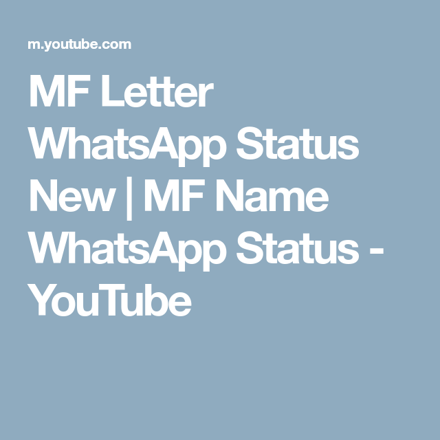 Mf Letter Whatsapp Status New Mf Name Whatsapp Status