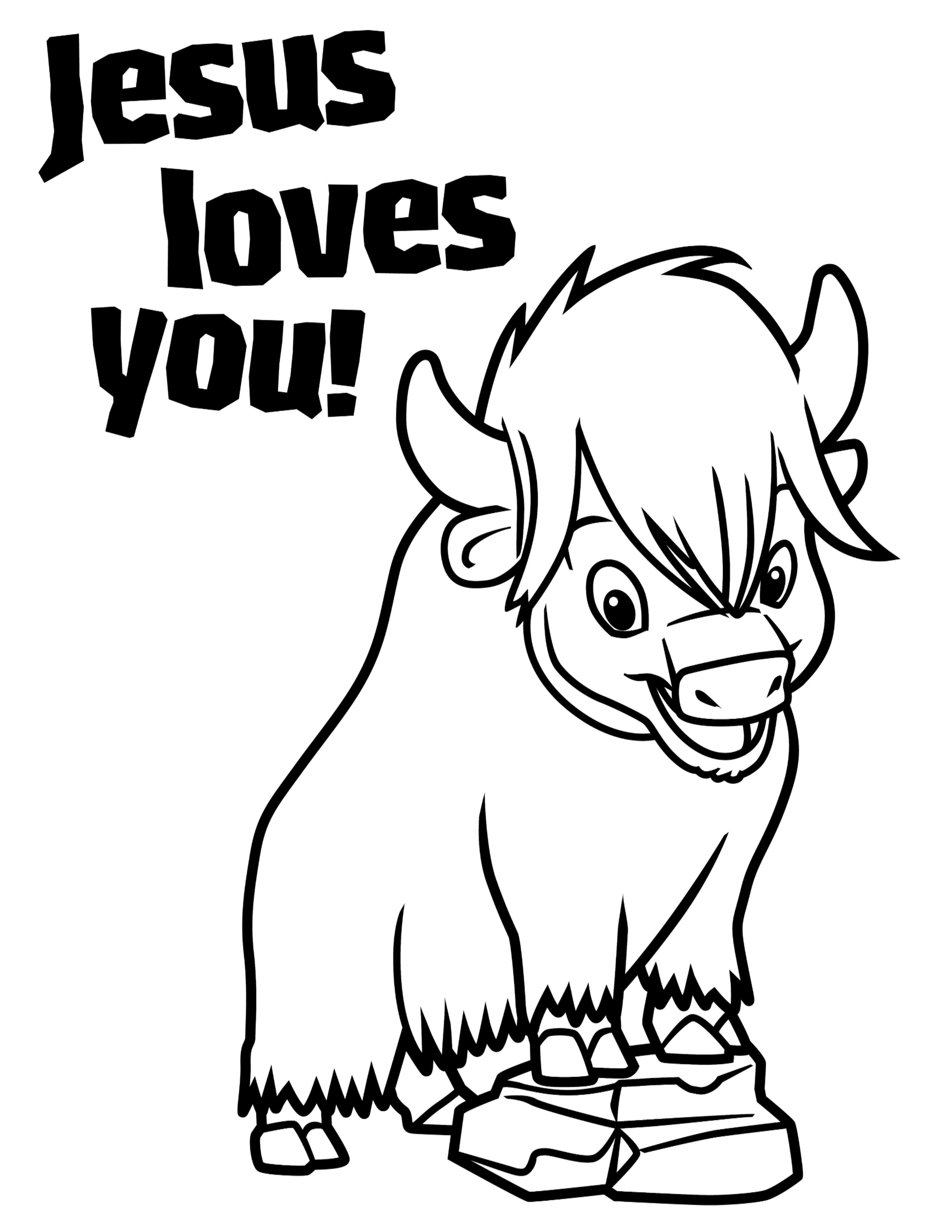 Free coloring pages vbs - Preschool Coloring Page Jesus Loves You Zak