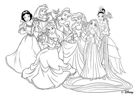 Principesse Da Colorare Rapunzel.Rapunzel Con Le Amiche Principesse Disegni Da Colorare Gratis Jpg