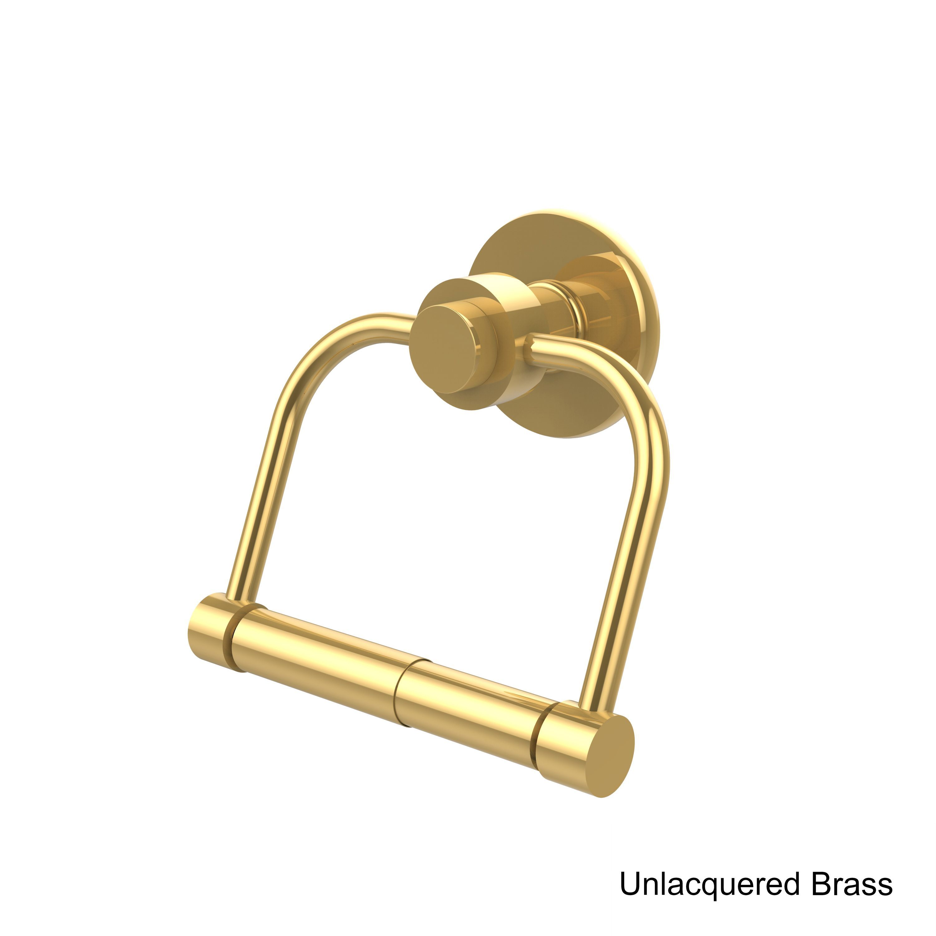 Mercury Collection Clear Brass 2 Post Toilet Tissue Holder (Unlacquered Brass)