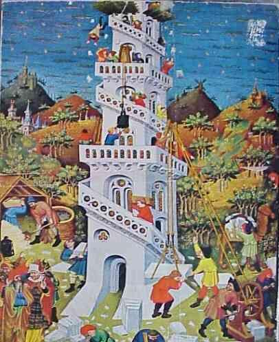 Construcao Da Torre De Babel 1424 25 Mestre Do Duque De Bedford