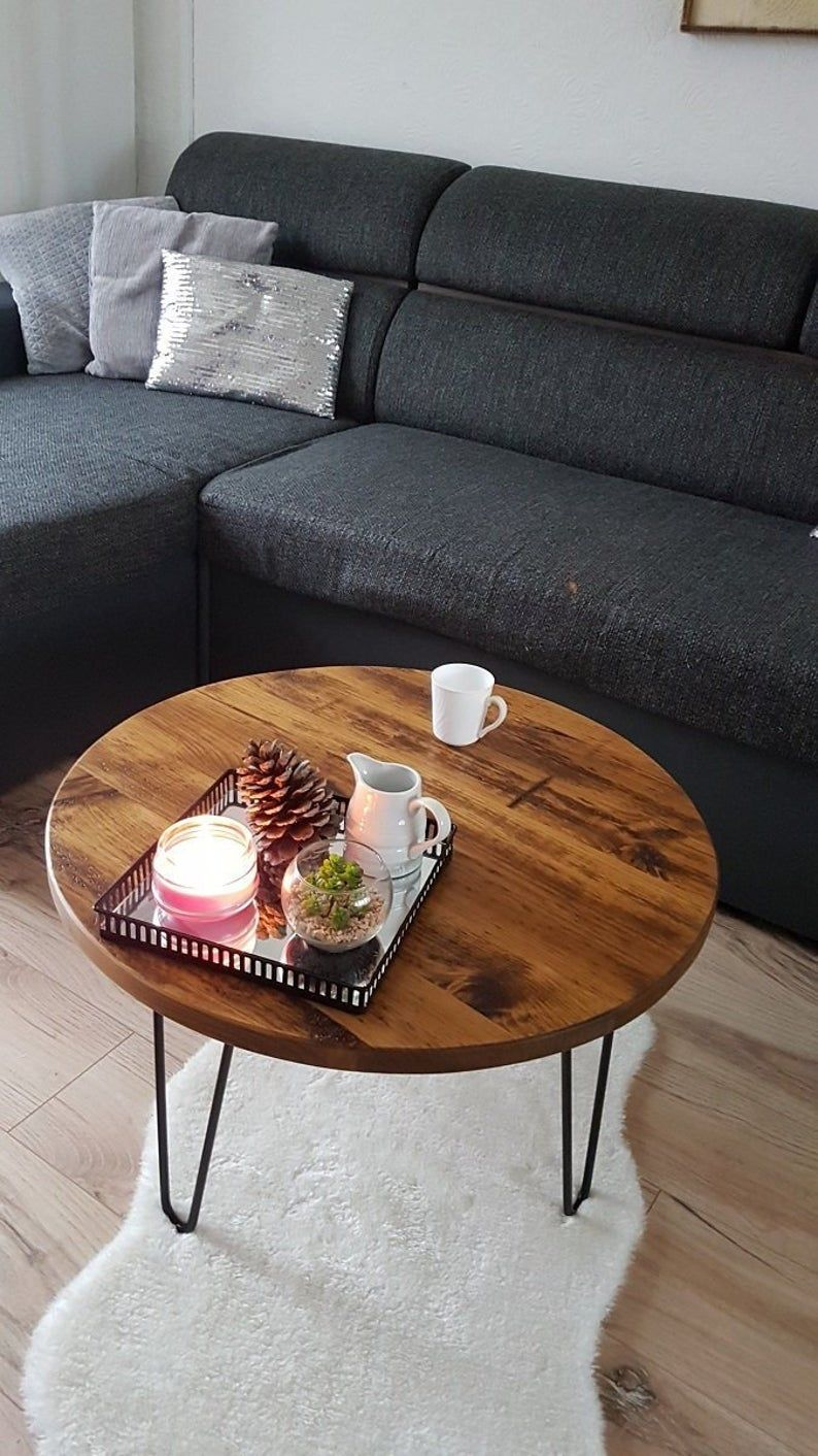 Round Wooden Table Rustic Industrial Round Coffee Table Low Etsy Coffee Table Coffee Table Wood Round Wooden Coffee Table [ 1412 x 794 Pixel ]