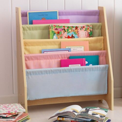 <p> Parents will love how this sling bookshelf can make any bedroom more tidy and organised. The kids will also love being able to have easier access to their favourite stories.</p> <p> The bookshelf includes the following features:</p> <ul> <li> Soft canvas shelves keep books from being damaged</li> <li> Books can be displayed by the front cover rather than the spine</li> <li> Holds books of almost any si