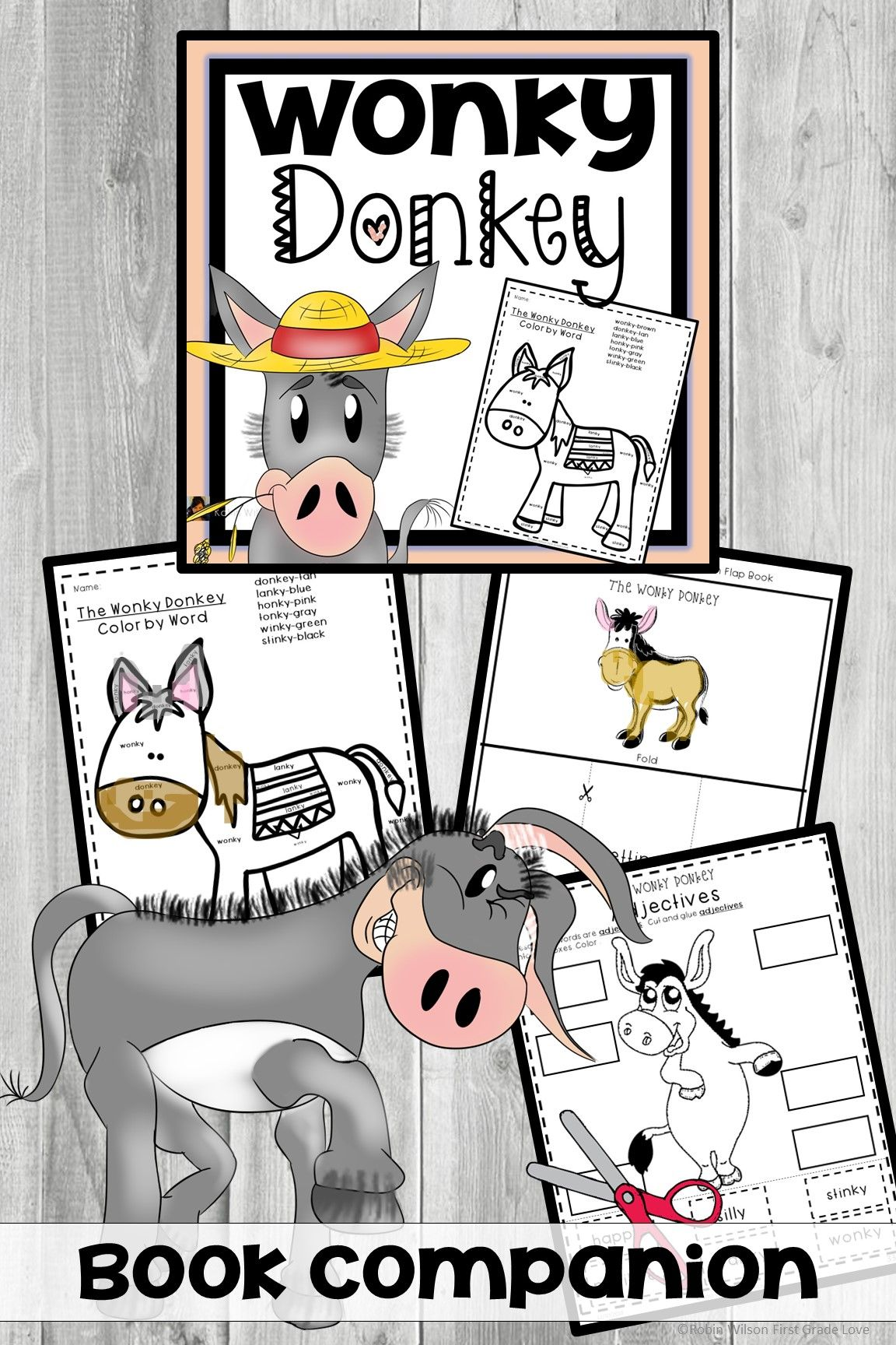 The Wonky Donkey Book Companion Reading Stations Vocabulary