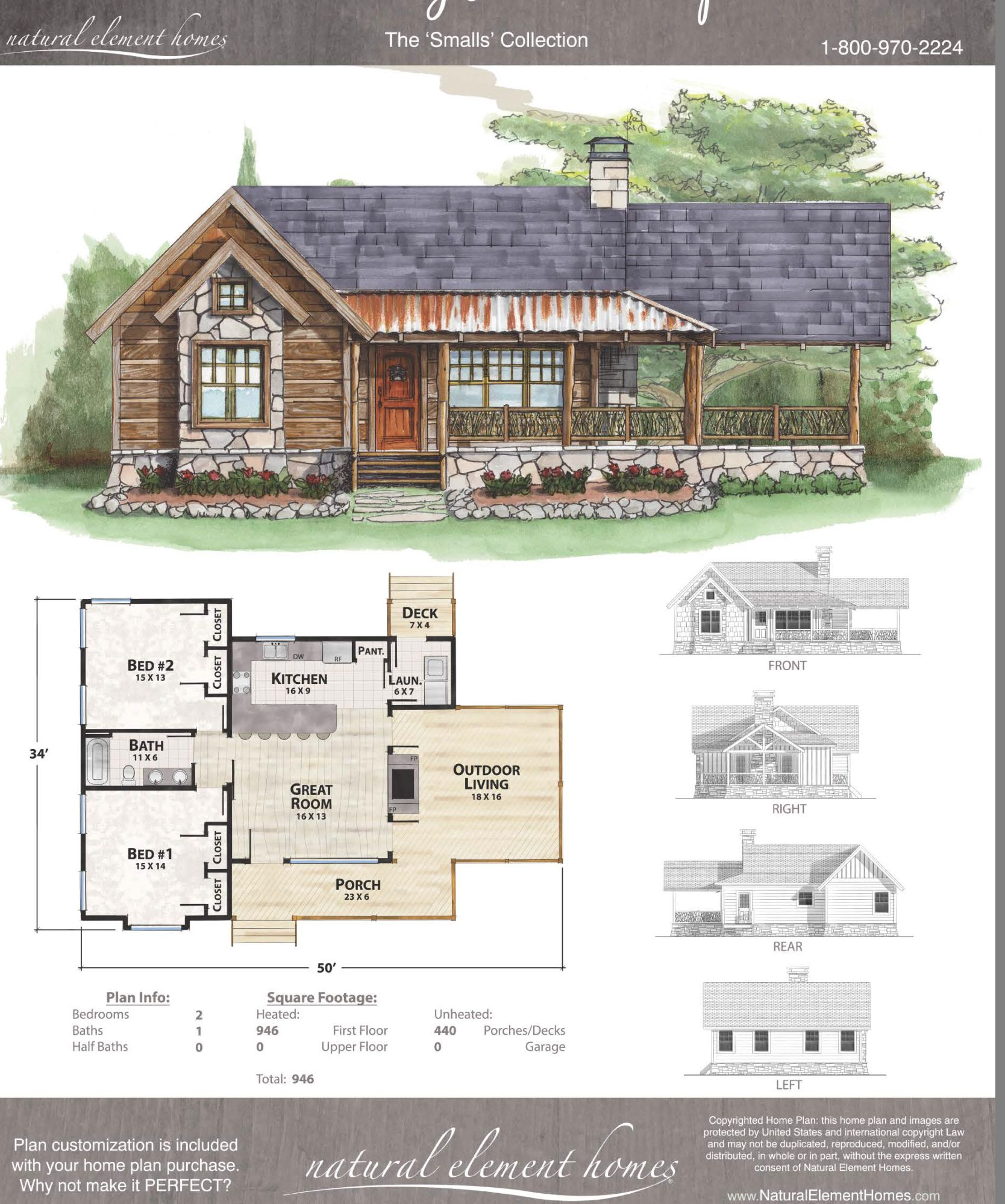 Screen In Outdoor Living Make Two Beds A Master With Ensure Add Bed Bath In Loft Cottage Plan Cabin House Plans Dream House Plans