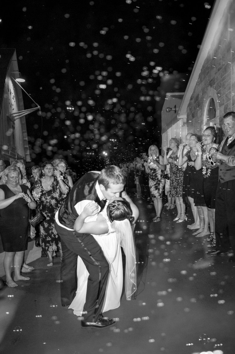 Beautiful Bubble SendOff! Event center, Wedding send