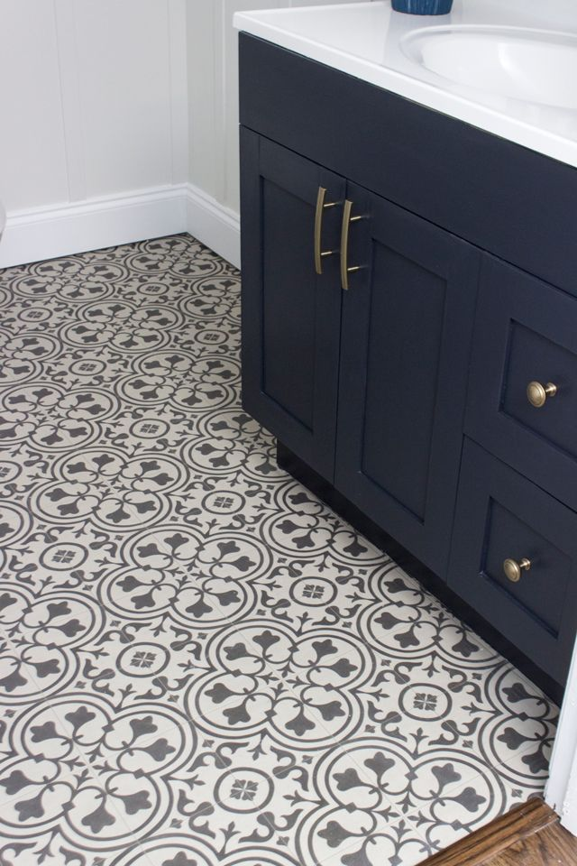 Vinyl That Looks Like Gorgeous Cement Tile Yes Please
