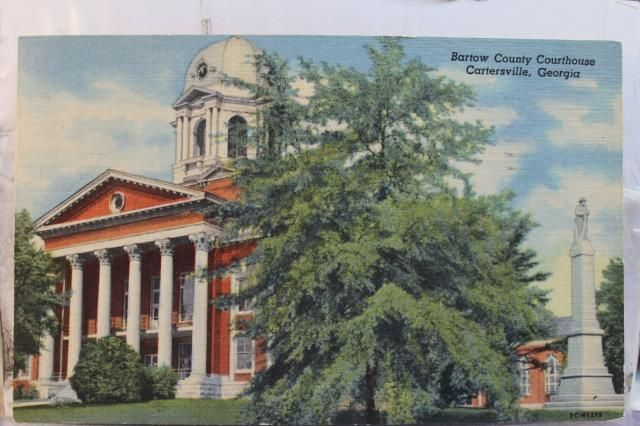Gold Dome Courthouse postcard, 1950's  Cartersville, Georgia