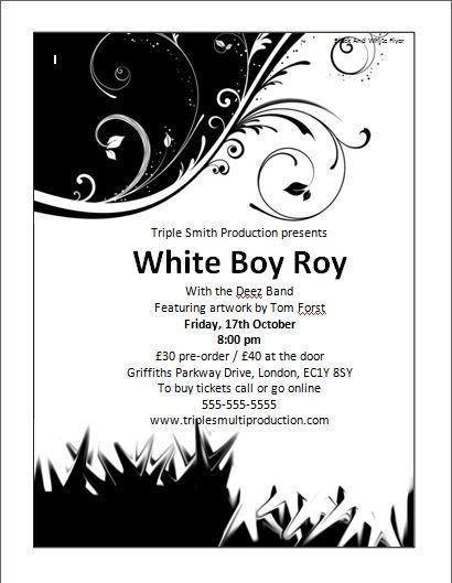 Flyer Templates Black And White (Dengan gambar)