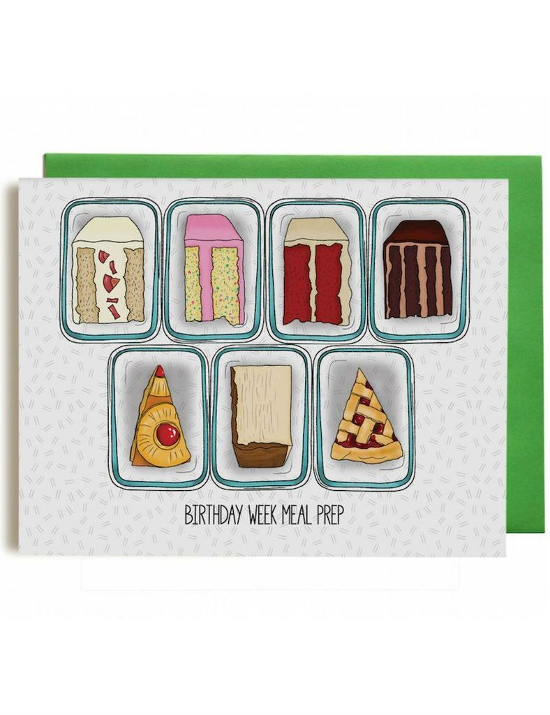 Birthday Week Meal Prep Card,  #Birthday #Card #fitnessmealprepfortheweek #Meal #Prep #week