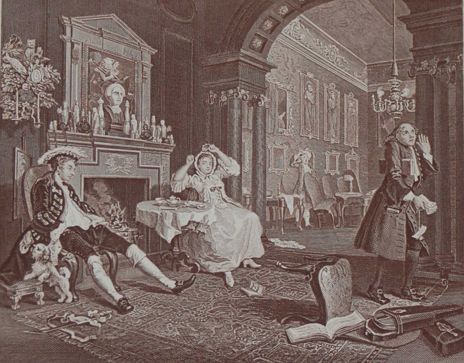 An Antique Print An Engraving After William Hogarth The