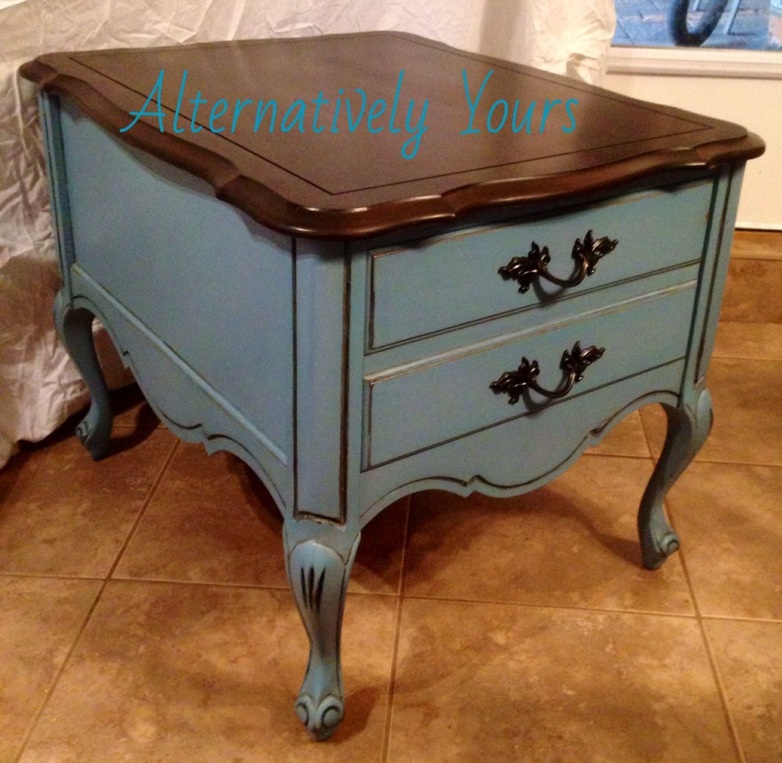 French Provincial end table painted in General finishes ...