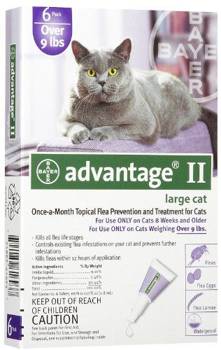 12 Month Advantage Ii Flea Control Large Cat For Cats Over 9 Lbs Want To Know More Click On The Image Flea Control Flea Control For Cats Fleas