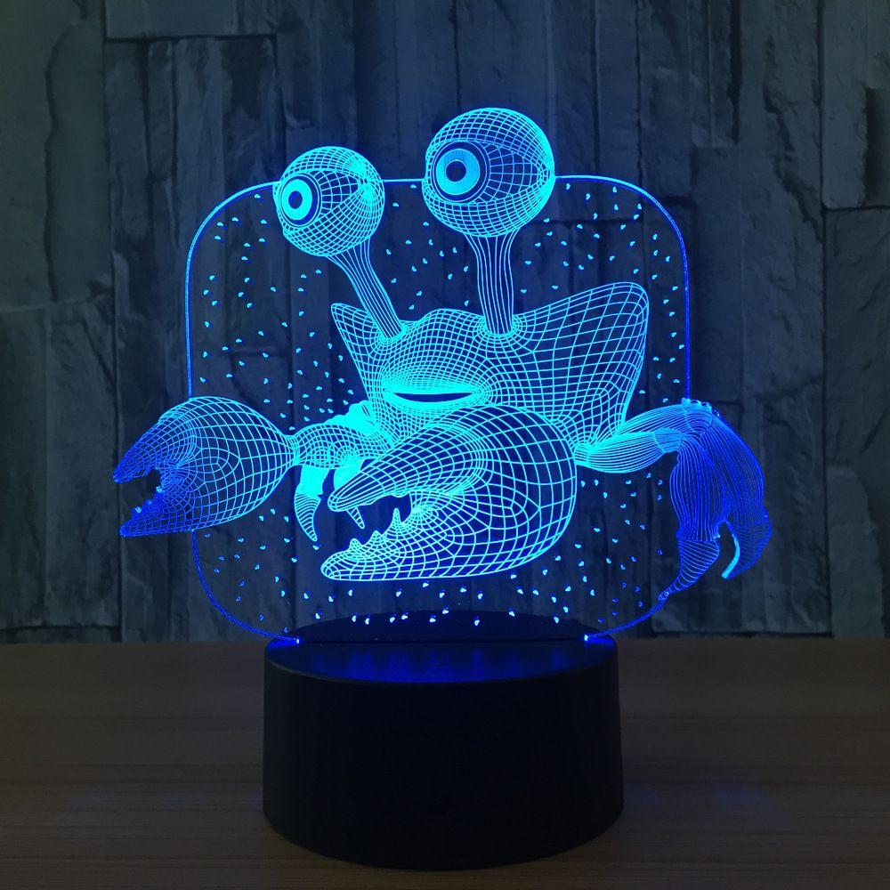 Crab 3d Illusion Lamp Xstron Led Glow Lights Night Light Led Night Light